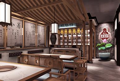 南昌火锅店设计_老员外酱骨头餐饮空间装饰设计