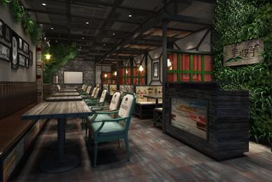 深圳烧烤餐厅设计_半坡羊烧烤餐厅装修设计