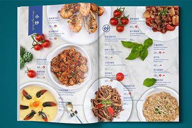 深圳港湾中西餐厅餐饮菜谱设计_菜单排版制作