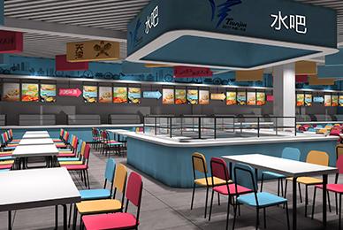 天津全运会运动员餐厅设计_大型赛事活动