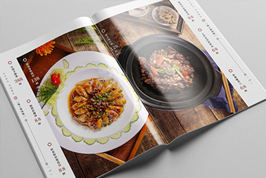 深圳菜谱设计公司_守元汤道特色菜单排版设计