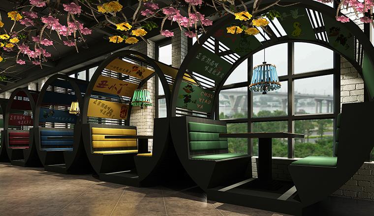 面积小的快餐店如何去设计呢?