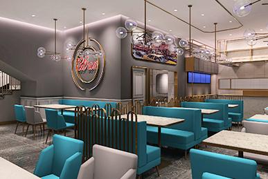 港式茶餐厅空间装饰装修设计、软装设计